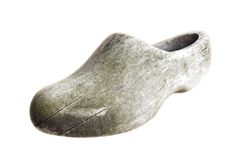 Klompen. Traditional Dutch old shoes. Royalty Free Stock Images