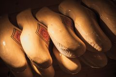 Klompen, traditional Dutch wooden shoes Stock Photo
