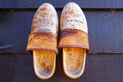Klompens. Traditional Dutch old shoes. Royalty Free Stock Photo