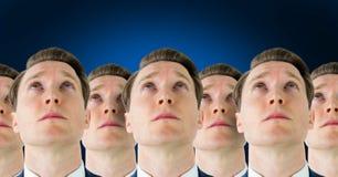 Klonów mężczyzna w rzędzie obraz stock