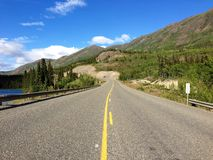 Klondike Highway near Whitehorse, Yukon, Canada. A shot of the Klondike Highway between Carcross and Whitehorse in Canada's Yukon Territory. This section is Stock Photos