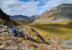 Klondike hikers Royalty Free Stock Photos