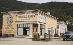 Klondike Kate ` s restauracja w Dawson mieście Fotografia Stock