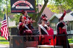 Klondike Kates Sing at Parade Royalty Free Stock Photo