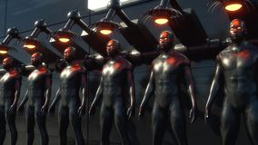 Klonende humanoid Zahl lizenzfreie abbildung