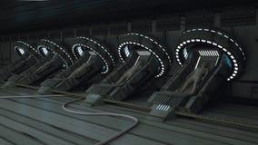 Klonende humanoid Zahl stock abbildung