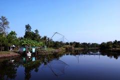 Klong Дэн, канал Дэн, район ranote, pr Songkhla Стоковая Фотография