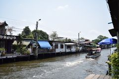 Klong Bang Luang, Bangkok Thailand. Is a river market. Full of Thai culture at The Artist house Stock Photography