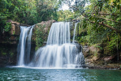 Klong Chao waterfall in kood island Royalty Free Stock Images