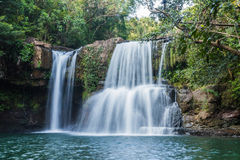 Klong Chao waterfall in kood island Royalty Free Stock Photos