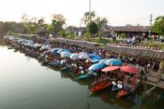 Klong Hae floating market at Hatyai Songlhal Thailand Royalty Free Stock Photo