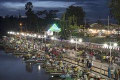 Klong Hae spławowy rynek, Tajlandia (22/08/2015) Obraz Stock