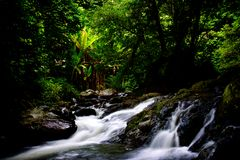 Klong Lan Waterfall Image stock