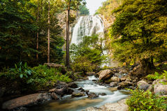 Klong Lan waterfall, evergreen forest Stock Image