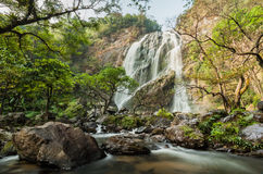 Klong Lan waterfall, evergreen forest Royalty Free Stock Photography