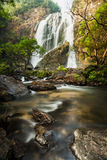 Klong Lan waterfall, evergreen forest Royalty Free Stock Photo