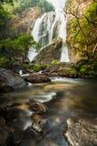 Klong Lan waterfall, evergreen forest Royalty Free Stock Photo