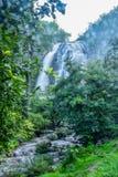 Klong Lan waterfalls with bokeh. In Kamphaengphet, Thailand Royalty Free Stock Photography