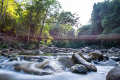 Klong Pai Boon Waterfall, Chanthaburi-provincie in Thailand Royalty-vrije Stock Fotografie