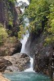 Klong Phlu Waterfall on Koh Chang or Chang island Royalty Free Stock Image