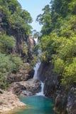 Klong Phlu Waterfall on Koh Chang or Chang island Royalty Free Stock Photography