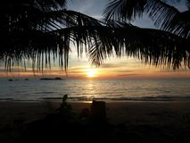 Klong Prao海滩/泰国 库存图片