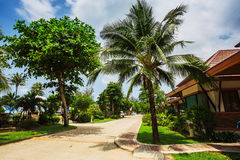 Klong Prao Resort. Cottages on the Bay in a tropical garden Stock Photography