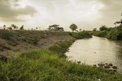 Klong Prapa (canale di Prapa) Fotografia Stock