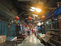 Klong Suan 100 jaar oude markt Stock Foto's