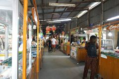Klong Suan 100 years old market, the famous antique market in Ch royalty free stock photography