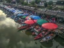 Klonghae Floating Market in Hatyai, Thailand stock photos