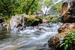 Klonglan vattenfall Arkivbild