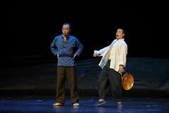 Klonk de gong - Jiangxiopera een weeghaak Stock Afbeeldingen
