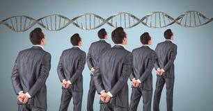 Klonmän med genetiskt DNA Arkivfoton