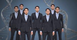 Klonmän med genetiskt DNA Royaltyfri Fotografi