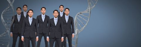 Klonmän med genetiskt DNA Fotografering för Bildbyråer