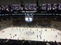 Klonowi liście hokejowi w Kanada Obrazy Royalty Free