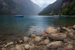klontal швейцарец горы озера Стоковое фото RF