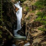 Kloofdalingen op Fall River Royalty-vrije Stock Afbeeldingen