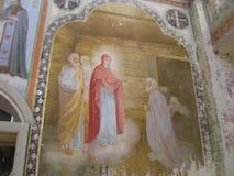 Klooster antonievo-Verkalsky Restauratie van de tempel Unieke fresko's Royalty-vrije Stock Afbeeldingen