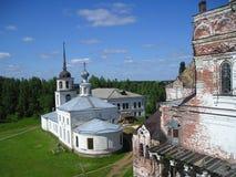 Klooster artemievo-Vercolsky Orthodox overblijfsel Stock Foto's