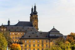 Klooster Banz dichtbij Slechte Staffelstein, Duitsland Stock Afbeelding