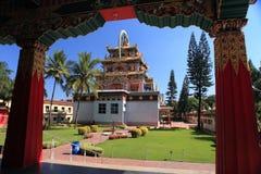 Klooster-Bylakuppe Tibetan regeling-Kushalnagar royalty-vrije stock foto's