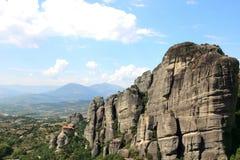 Klooster in de bergen Mening van de bergvallei Royalty-vrije Stock Fotografie