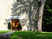klooster deur royalty-vrije stock afbeeldingen