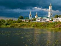 Klooster in Diveevo royalty-vrije stock foto