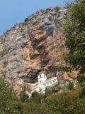 Klooster in een rots Stock Fotografie