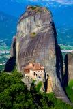 Klooster en de dramatische rotsvorming van Meteora, Kastraki Royalty-vrije Stock Foto
