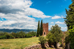 Klooster Escornalbou in Spanje, Tarragona, Catalunya Royalty-vrije Stock Afbeeldingen