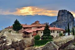 Klooster Heilige Drievuldigheid, Meteora, Griekenland royalty-vrije stock afbeelding
